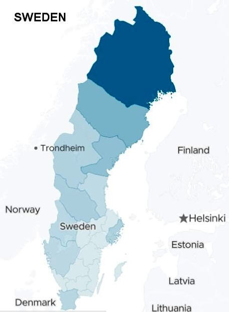 descendents of ancesters i Sweden for 1/8 Saami