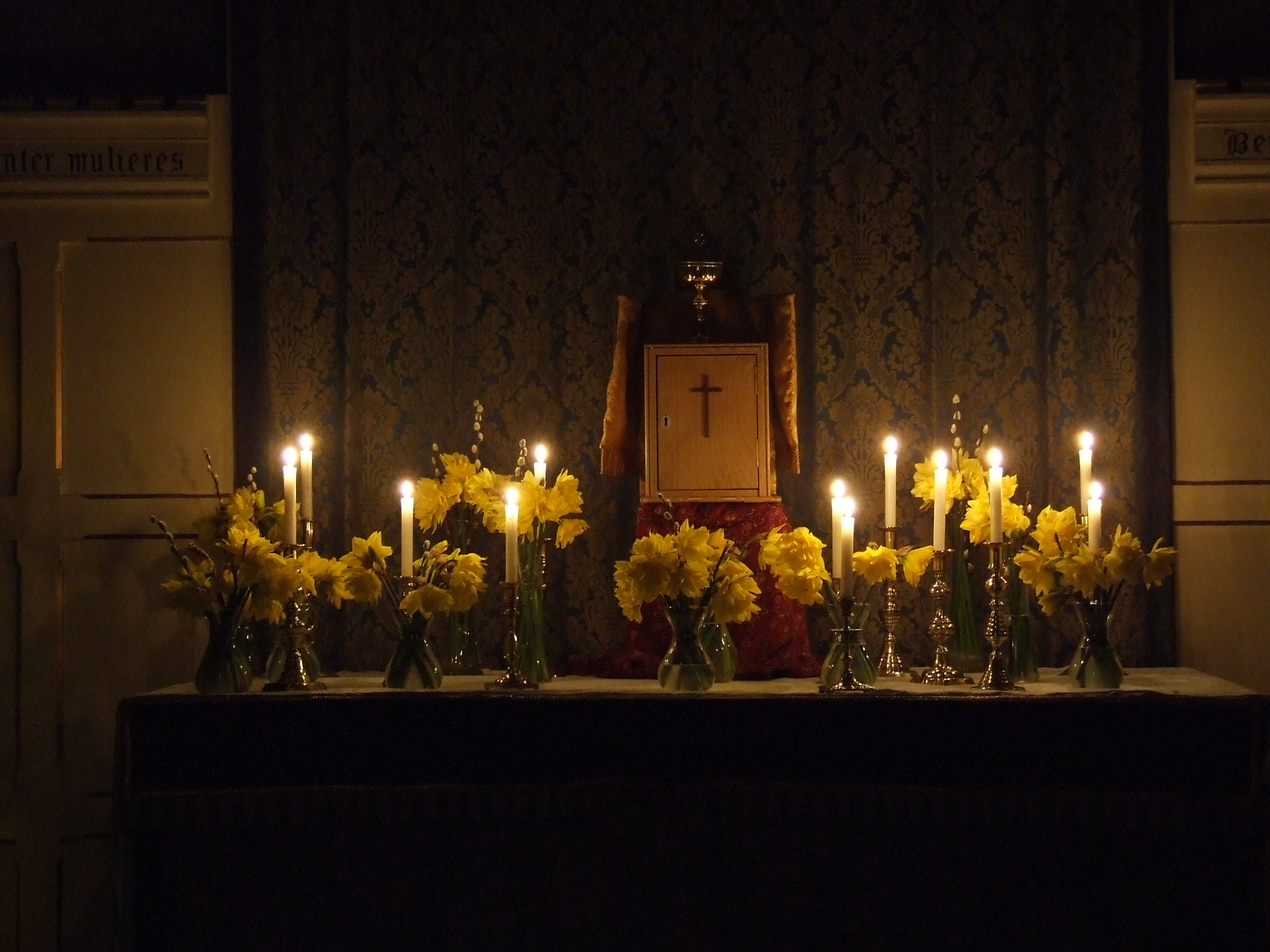 Altar of repose Maundy Thursday