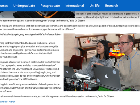 UBC collaboration in UOH's News Letter