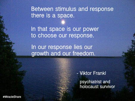 Take Back Your Life: choose to replace blame with 'response-ibility'