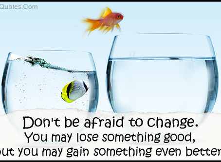 HOW TO ELIMINATE THE FEAR OF CHANGE - take control of your life.
