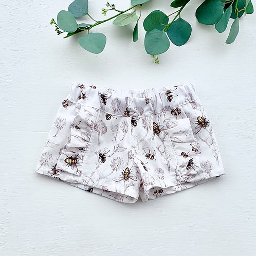 Bee Ruffle Shorts