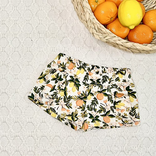 Oranges and Lemons Ruffled Shorts