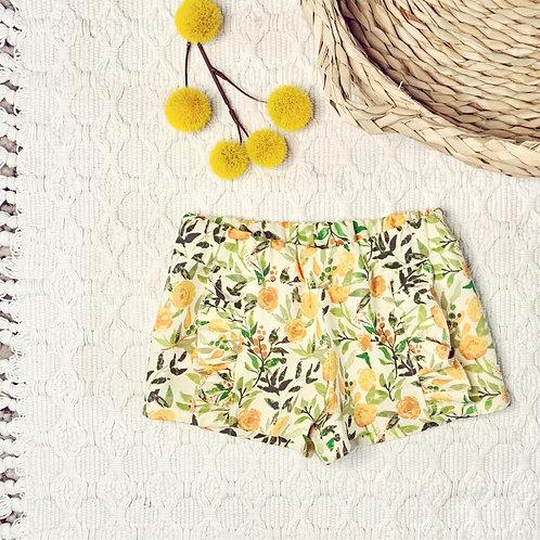 Sunshine Floral Ruffle Shorts