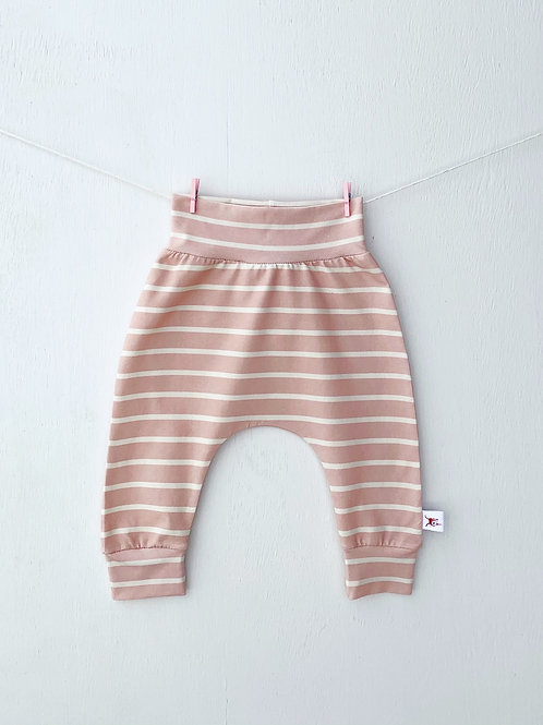 Blush and Cream Stripe Pants