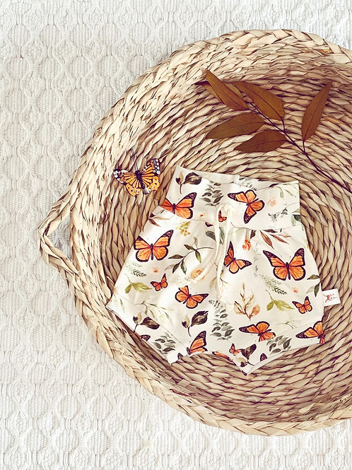 Monarch Butterfly Knit Shorts