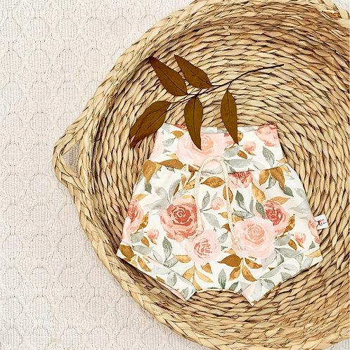 Cottage Roses Organic Baby Shorts