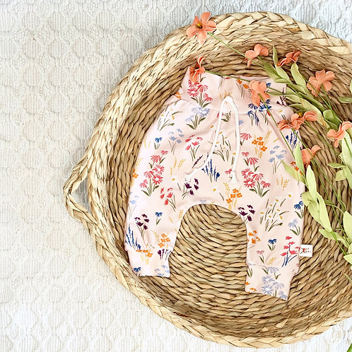 Wildflowers in Blush Pink Floral Pants