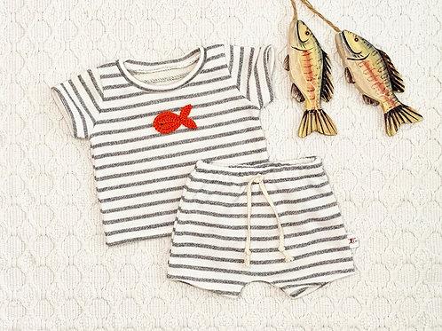 Beach Babe Fish Stripe Shirt or Shorts