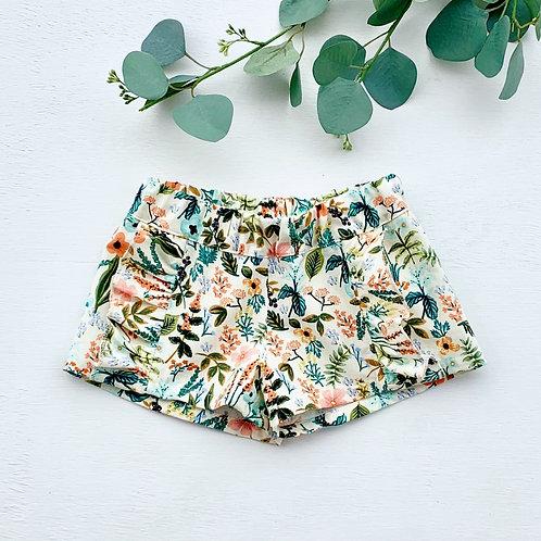 Herb Garden Ruffle Shorts