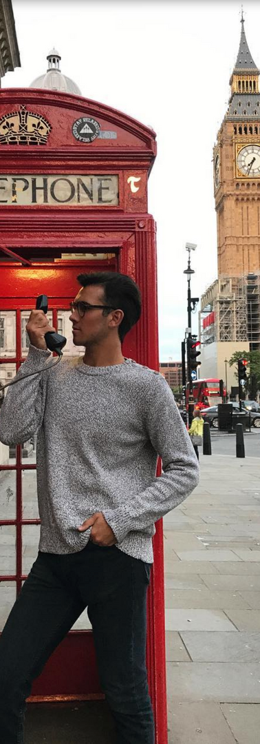Exploring the city while studying at the London Dramatic Academy, 2017