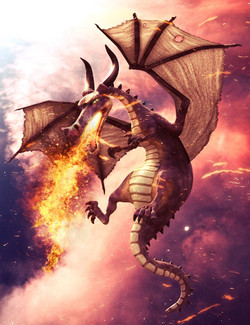 3D Universe Mythical Dragon