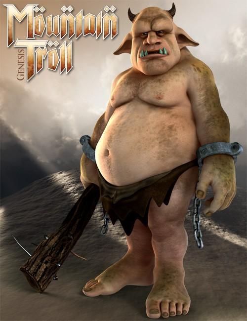 3D Universe Mountain Troll