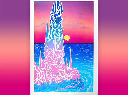 Spire giant screen printed poster from Brady