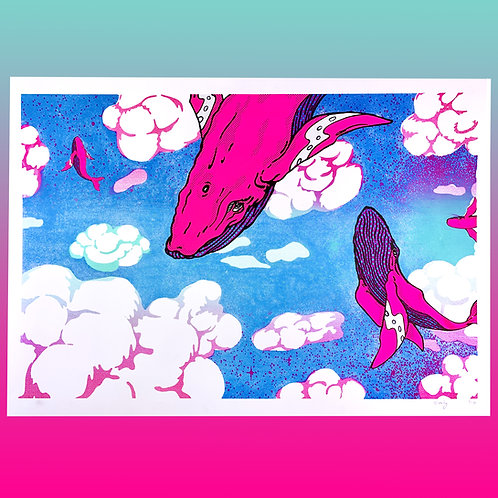 Sky Swimming poster by Brady