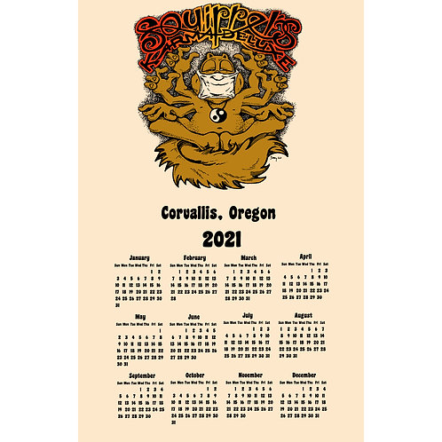 Squirrels: 2021 Calendar