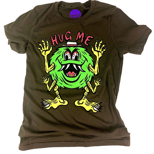 Wooden Cyclops Hug Me Glow Blacklight tee