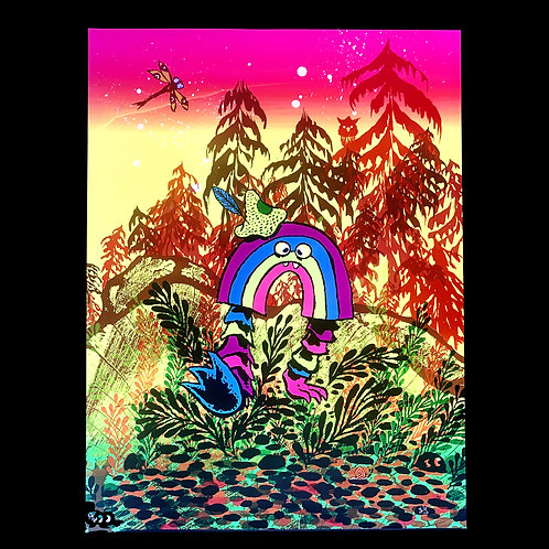 Rainbow Warrior blacklight poster from Bwana Spoons