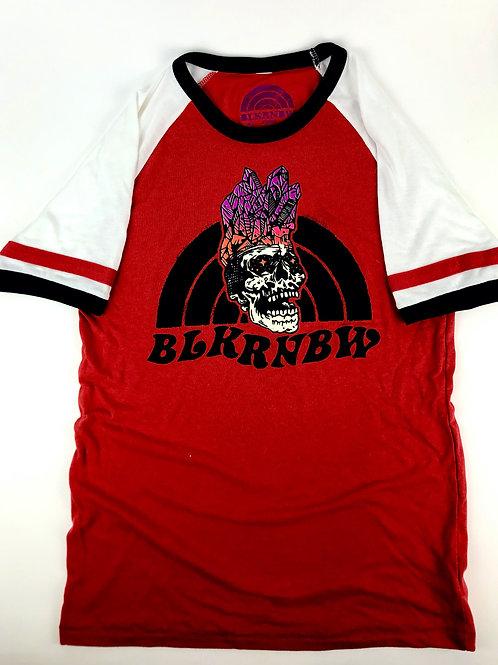 BLKRNBW:  Logo Vintage tee