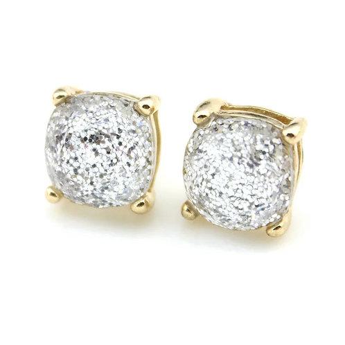 Diamond Sparkles Gold Stud Earrings