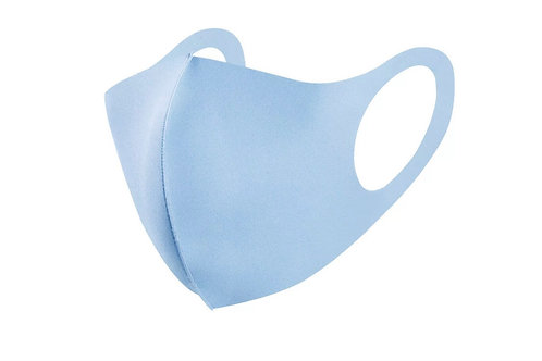 Children's Soft Stretch Light Blue Face Mask