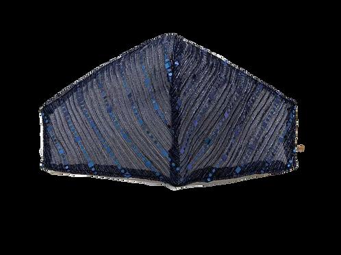 Navy Blue Sequins Face Mask