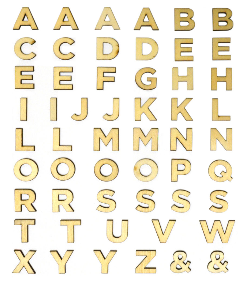 "3/4"" Wood Block Letters"