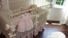 Pink & Cream Girls Nursery Room Design