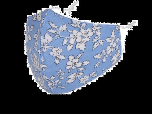 Light Blue & White Floral Face Mask