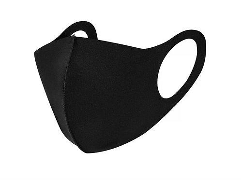 Children's Soft Stretch Black Face Mask