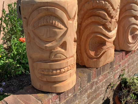 Here's a short video I made about tiki carving.