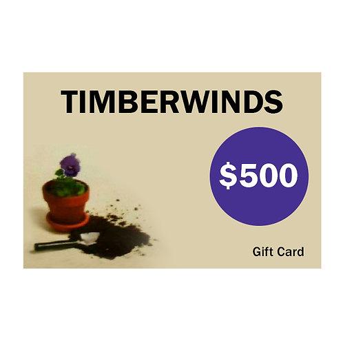 Timberwinds Gift Card