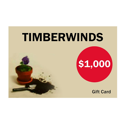 Timberwinds Gift Card