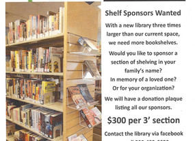 Shelf Sponsors Wanted