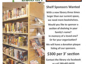 Shelf Sponsors Wanted