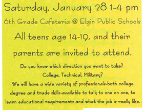 All teens in Elgin, Fletcher,Sterling and Cyril are encouraged to stop by and visit with a variety o