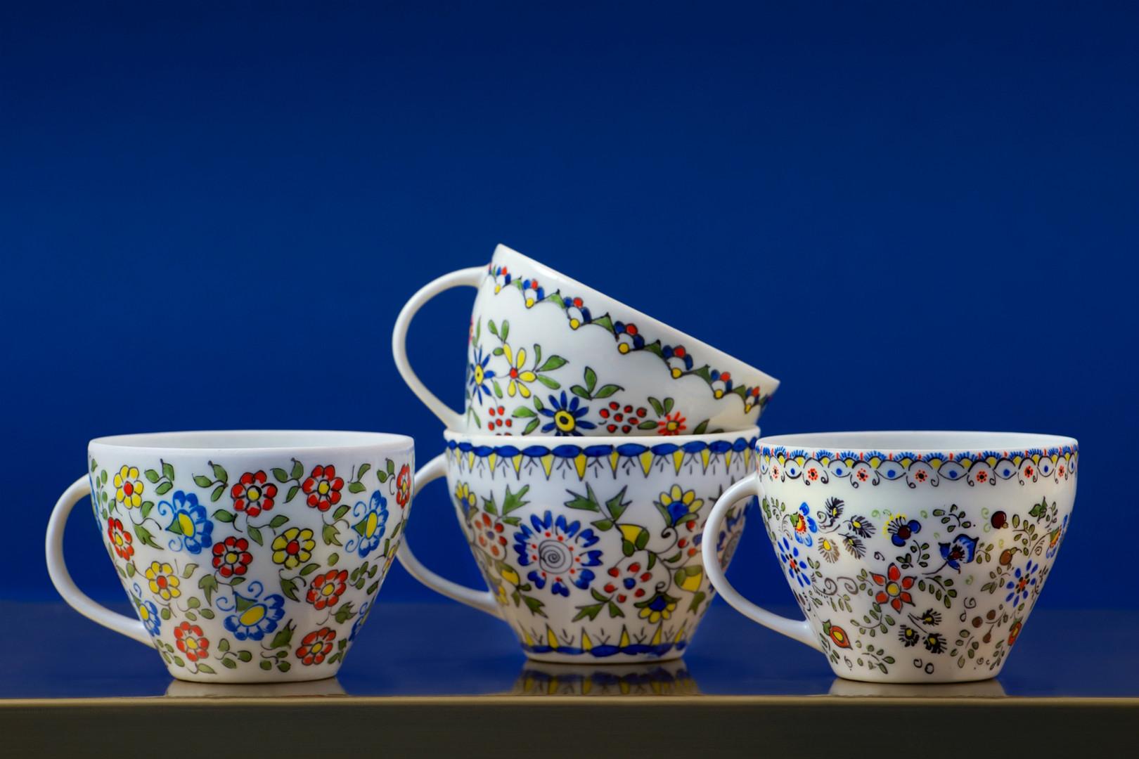 ręcznie malowana porcelana Ćmielów