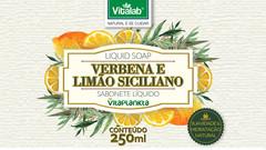 Sabonete líquido Verbena e Limão Siciliano Vitalab