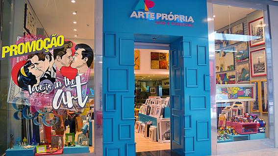 Arte Própria loja em shopping