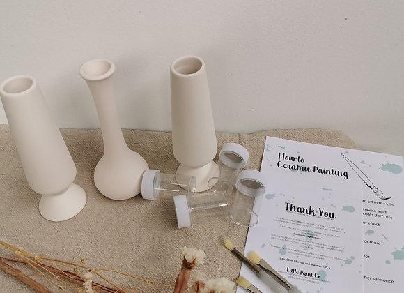 3 Bud Vase Set - Adults Take Home Kit