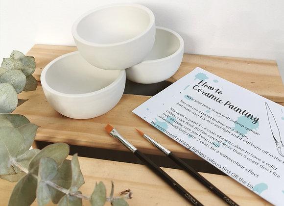 3 dip bowls Bowls - Adults Take Home Kit