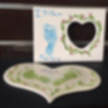 baby foot print keepsakes