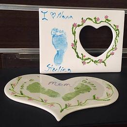 baby foot print keepsakes