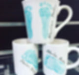baby mug fooprints