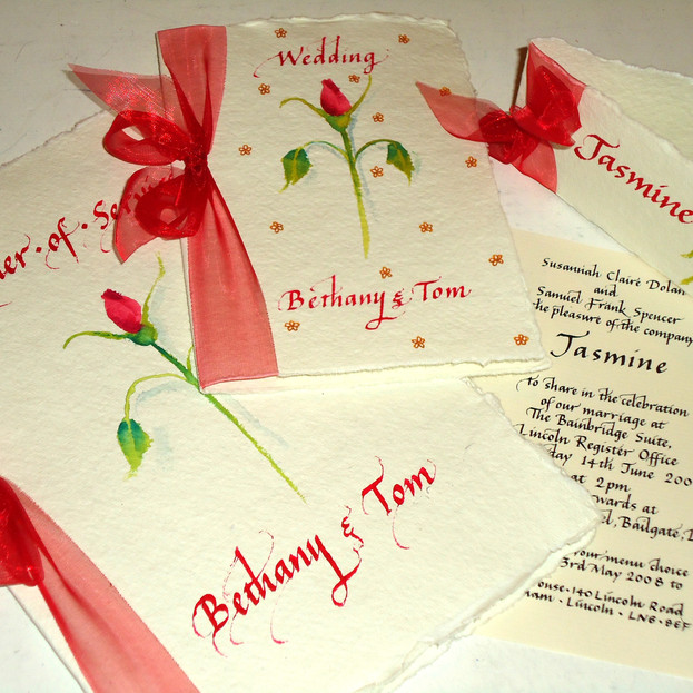 Hand Painted & Lettered Wedding Statione