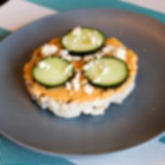 Rice Cake - Hummus, Cucumber & Feta (edi