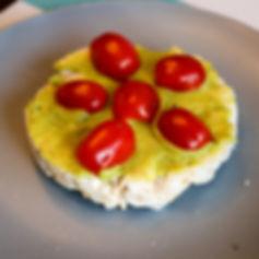 Rice Cake - Avocado & Grape Tomato (edit