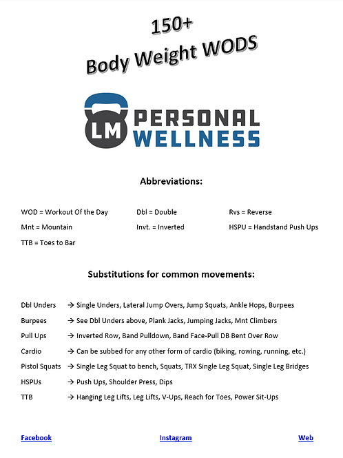 150+ Body Weight Workouts