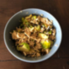 Shredded Taco Chicken & Brussel Sprouts