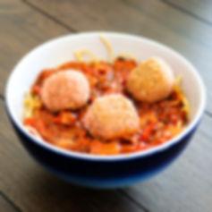 Veggie Meatballs & Chickpea Pasta (edite
